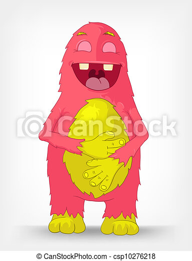 Funny Monster. Laughing. - csp10276218