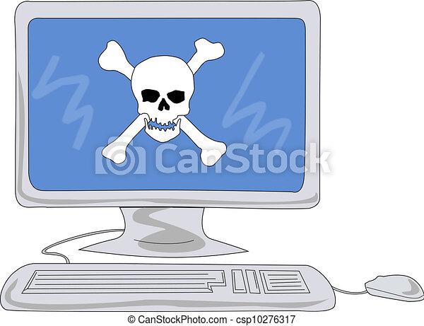 Computer virus attack - csp10276317