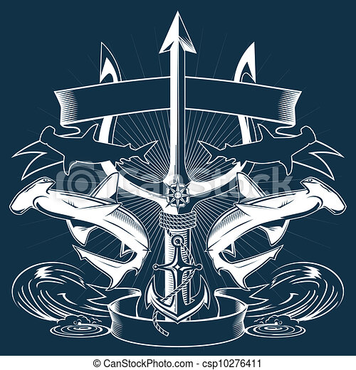 ... sharks, anchor... csp10276411 - Search Clipart, Illustration, Drawings