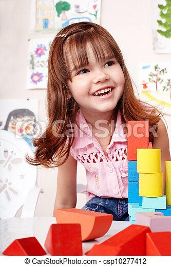 プレーしなさい, セット, 部屋, 建設, 子供, ブロック - csp10277412