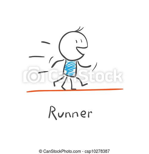 矢量-跑的人