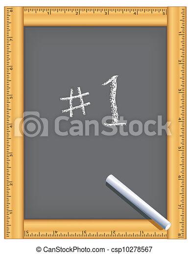 Ruler Frame Chalkboard, Number One - csp10278567