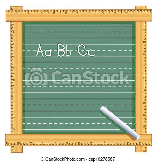 Ruler Frame Chalkboard, ABC - csp10278587