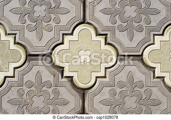ornate pavement - csp1028078