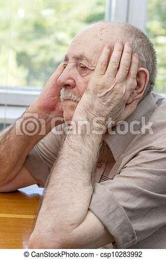 senior man thinking - csp10283992
