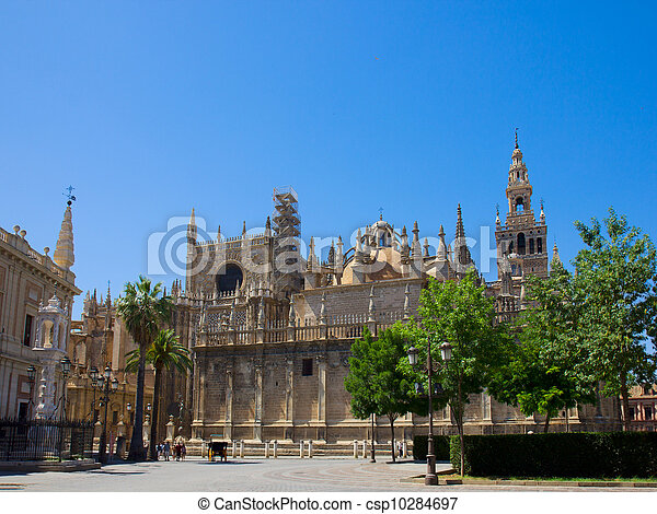 Cathedral church of Seville, Spain - csp10284697