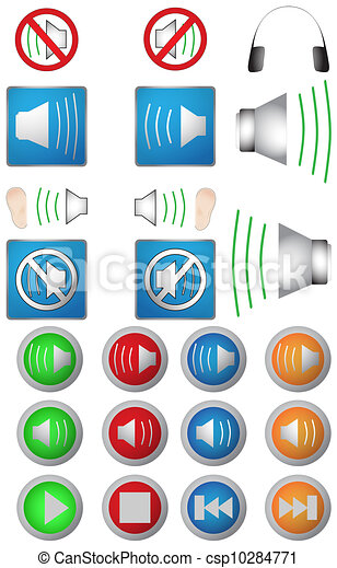 Audio icons - csp10284771