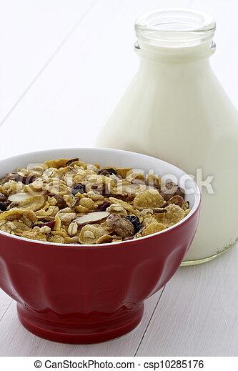 Delicious and healthy muesli or granola - csp10285176