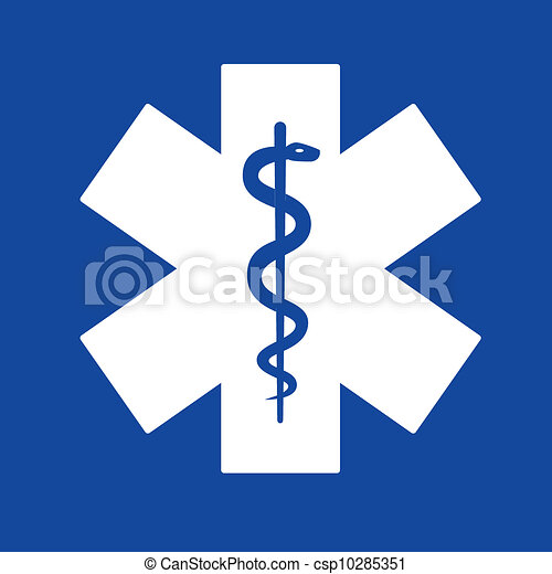 clipart vector of emergency medicine symbol, star of life