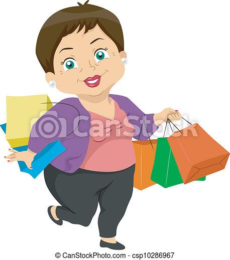 Senior Shopping - csp10286967
