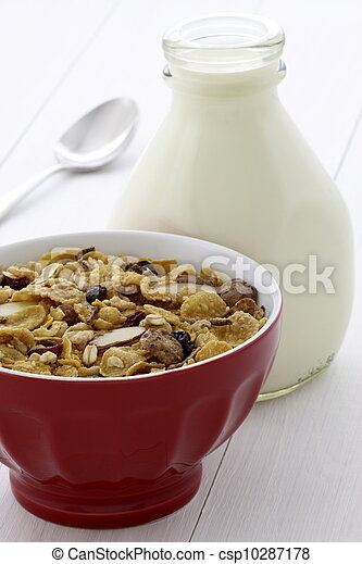 Delicious and healthy muesli or granola - csp10287178