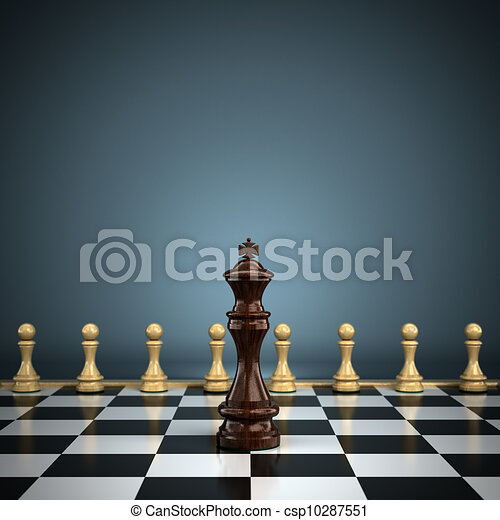King with pawns - csp10287551