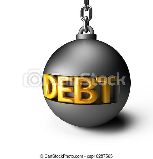 Debt concept - csp10287565