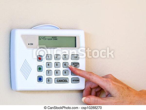 Home security alarm  - csp10288270