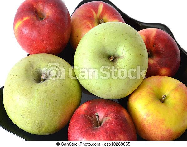 苹果, 堆, 盘子 - csp10288655