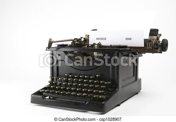 Invoice Typewriter - csp1028907