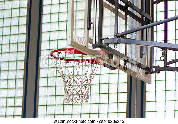 Basketball hoop in a gymnasium - csp10289245