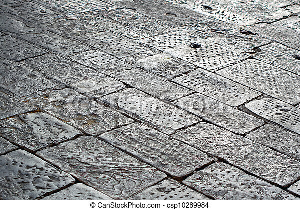 Paving stone concrete - csp10289984
