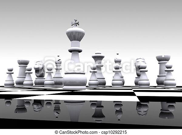 库存照片-国际象棋, -, 3d