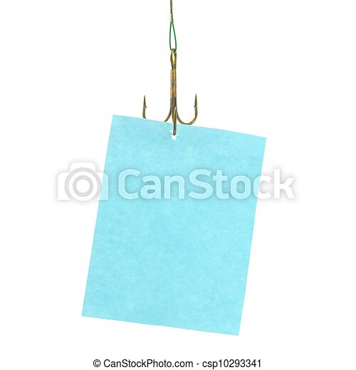 notice hanging on hook - csp10293341