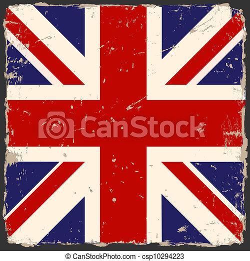 Vector grunge British flag - csp10294223