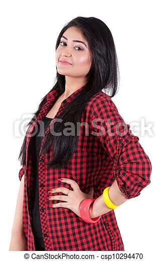 Plaatje van vrolijke tiener meisje vervelend kleurrijke kleren het csp10294470 zoek - Tiener meisje foto ...