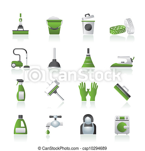 Cleaning and hygiene icons - csp10294689