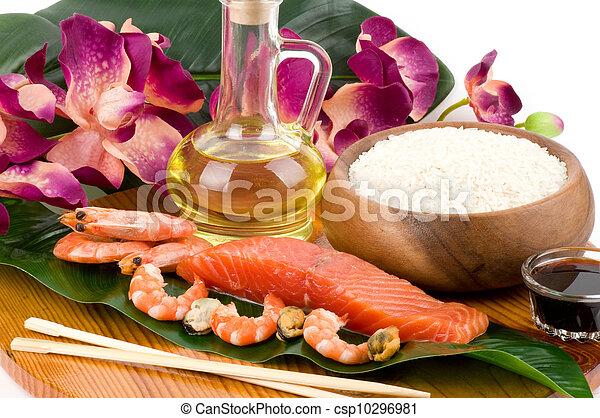 Traditional Japanese food Sushi - csp10296981