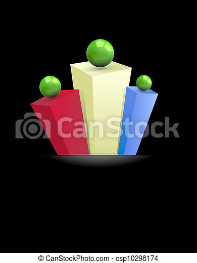 abstract 3d background with multi-colored prisms and gre - csp10298174