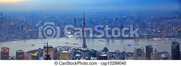 Shanghai aerial panorama  - csp10299040