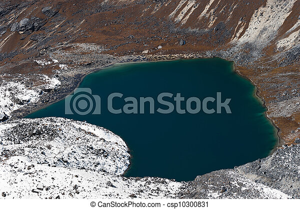 Angladumba lake not far from Renjo Pass in Himalayas - csp10300831