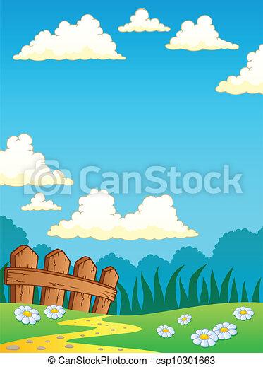 Spring theme landscape 4 - csp10301663