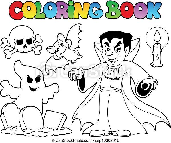 Coloring book Halloween topic 5 - csp10302018