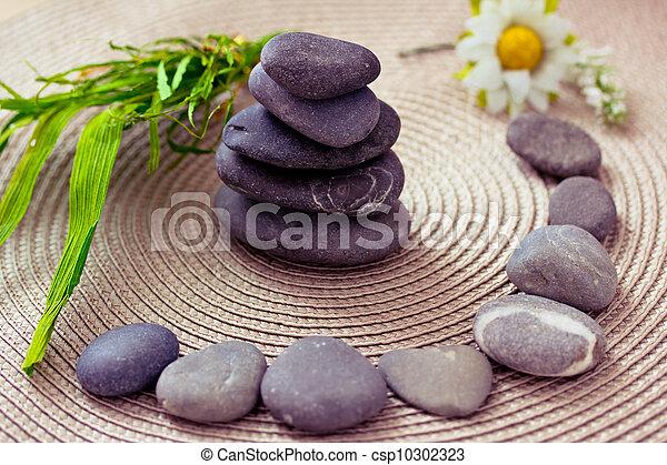 Spa wellness blumen  Stock Foto von steine, wellness/beauty, spa, blumen, darstellen ...