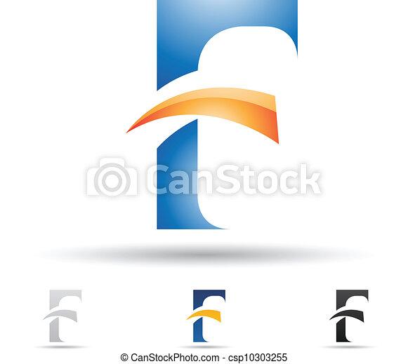 Vetor - abstratos, ícone, letra, F - estoque de ilustração ...