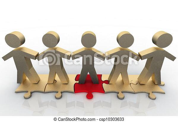 desire of cooperation - csp10303633