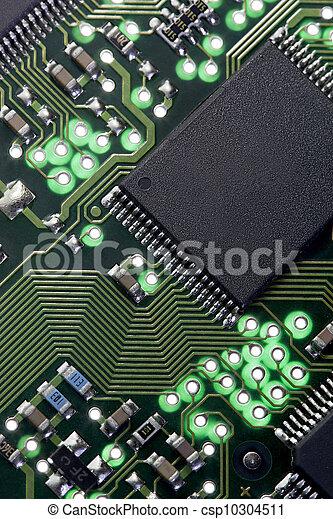 Stock Photography of Computer Circuit Board - Backlit macro of computer circuit...