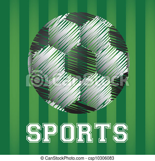 illustration of soccer ball in scratches  - csp10306083