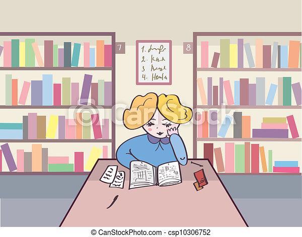 阅读, 图书馆