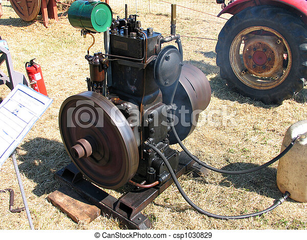 Antique diesel engine - csp1030829