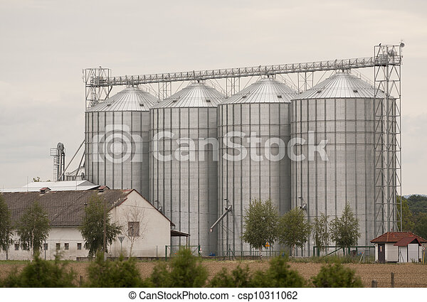 Stack on a large farm