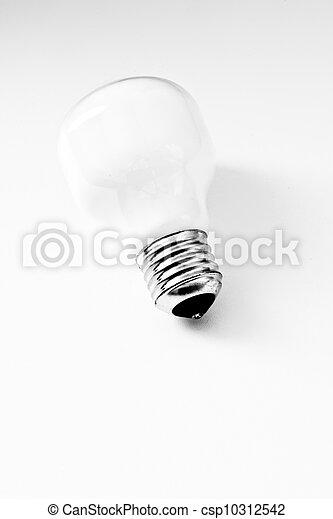 high-key light bulb on white, concept of clean energy - csp10312542