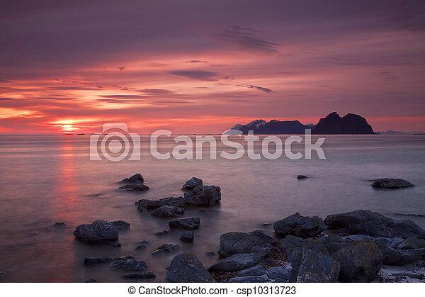 Midnight sun on Lofoten - csp10313723