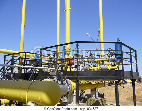 Gas industry, gas transmission system - csp1031537
