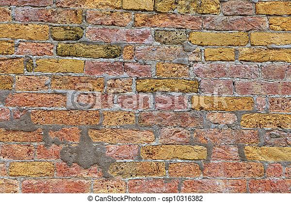 Texture of Venetian brick wal - csp10316382