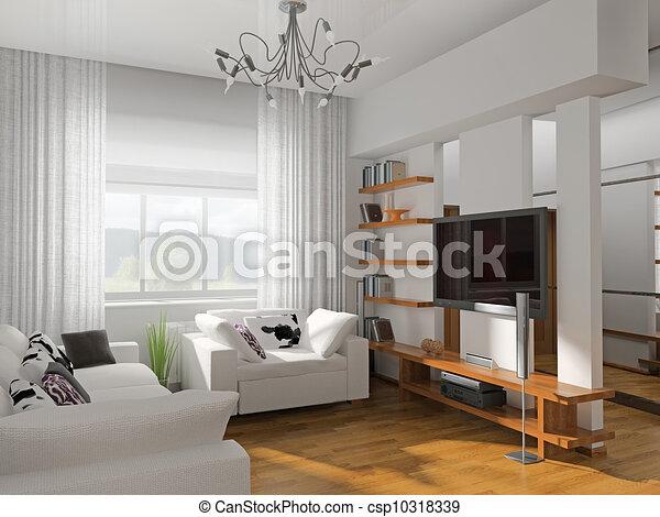 Zeichnungen von wohnzimmer mit der modern m bel 3d for Wohnzimmer clipart