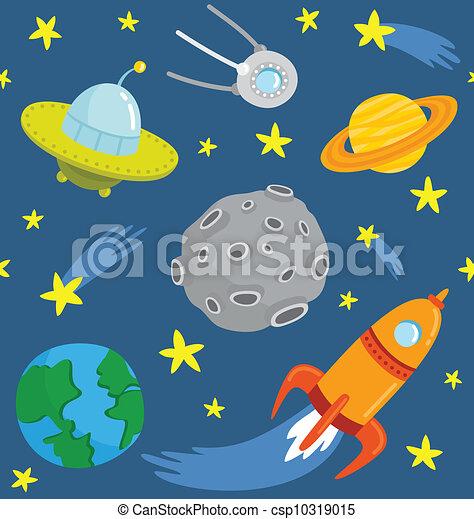 vector clip art de patr u00f3n  seamless  space   caricatura venus clip art planet venus clip art planet
