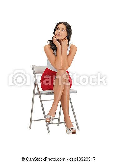 woman in dress - csp10320317