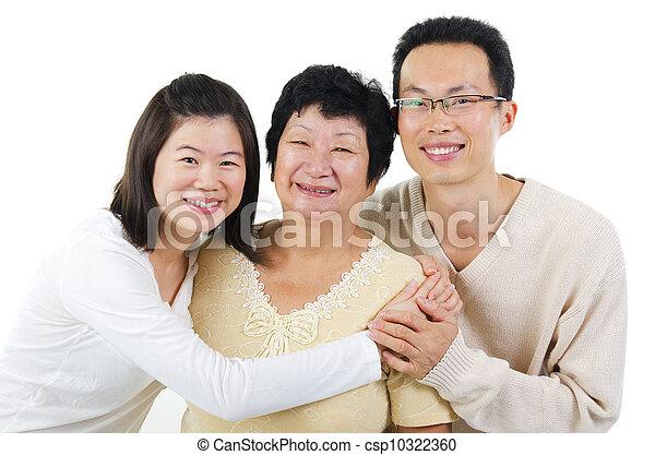 Asian family - csp10322360