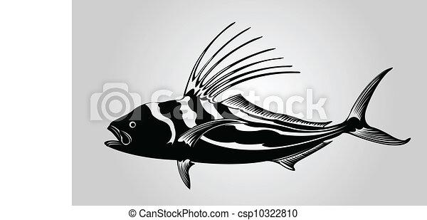 рисунок рыба петух